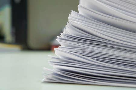 Stack white paper