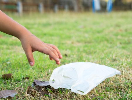 reprocess: Child going pick garbage out