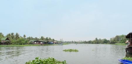 nakhon pathom: River landscape at Nakhon Pathom Stock Photo