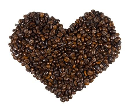 Heart shape coffee bean photo