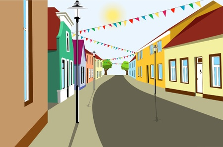old street Stock Vector - 11479551