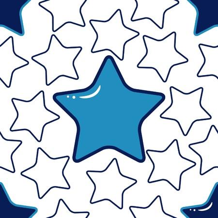 stars cartoon: seamless texture with blue stars