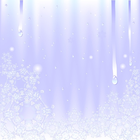 frozen glass: frozen glass with snowflakes