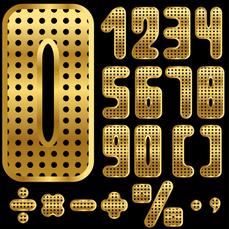 golden numbers with holes  Vector