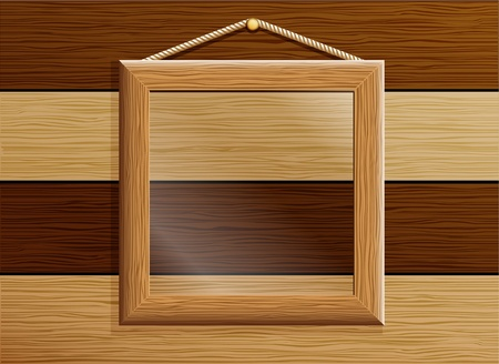 molding: wooden frame with glass Illustration