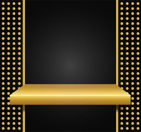golden shelf Stock Vector - 11660588