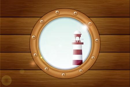ventana ojo de buey: ojo de buey con faro