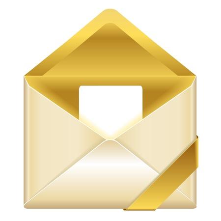 envelop: golden open envelop
