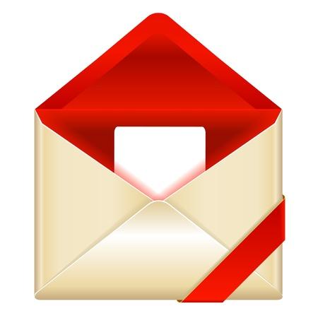 envelop: red open envelop