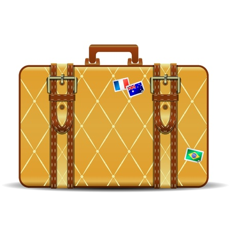 yellow suitcase Vector