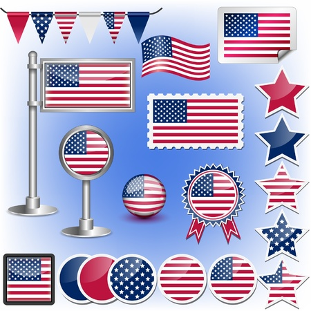 united states flag: american flag Illustration