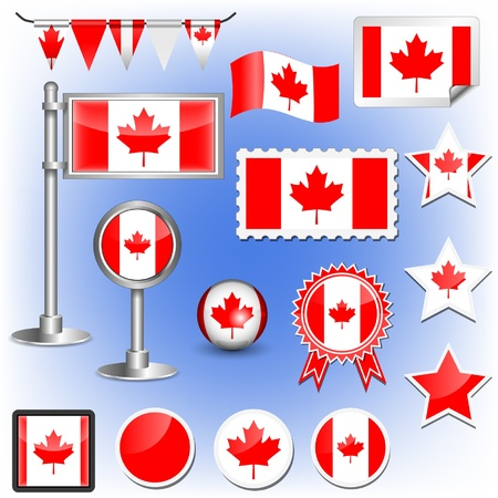 canada stamp: canadian flag