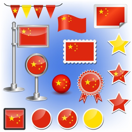 chinese flag Stock Vector - 11660048