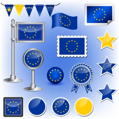 flag pole: EU flag