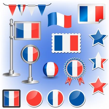 france flag Stock Vector - 11660012