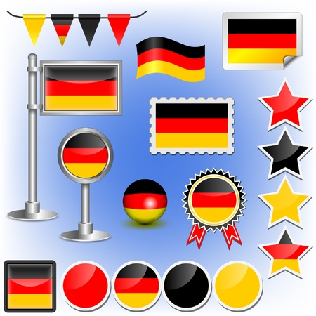 germany flag Stock Vector - 11660015