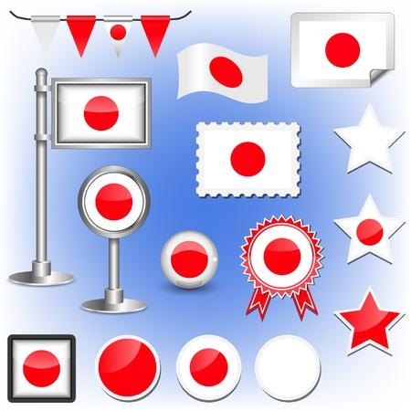 japanese flag Stock Vector - 11660044