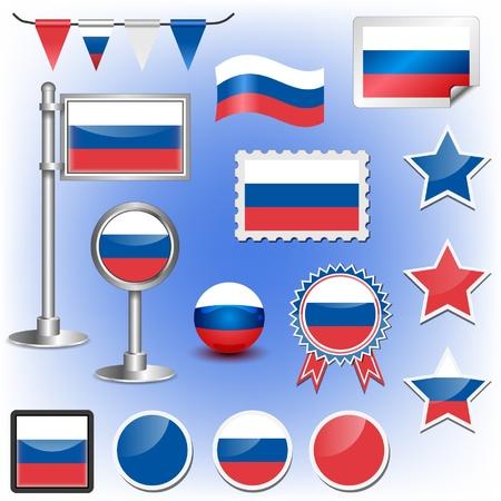bandera rusia: bandera rusa Vectores