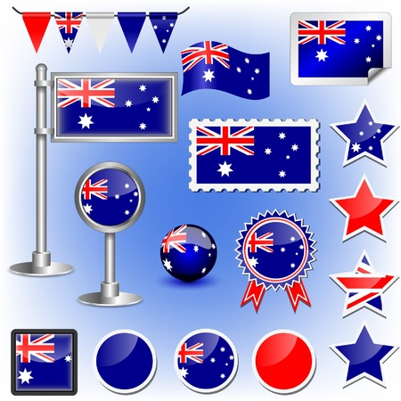 bunting flags: australian flag