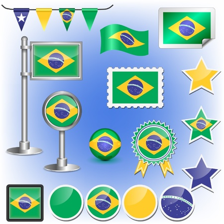 brazilian flag Stock Vector - 11659986