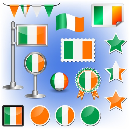 flag of ireland Stock Vector - 11660009