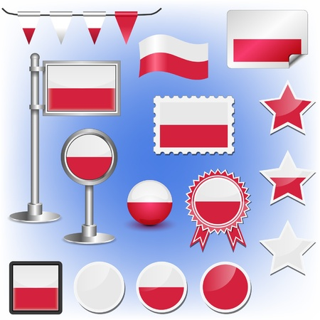 flag of poland Stock Vector - 11660046