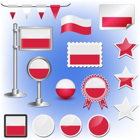 flag of poland Stock Vector - 11660046