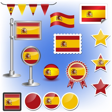 flag pole: flag of spain