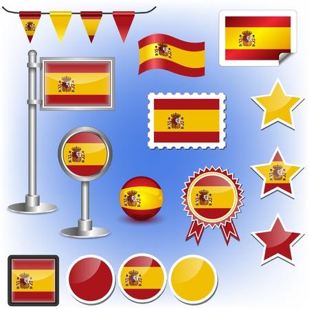 spanish flag: flag of spain