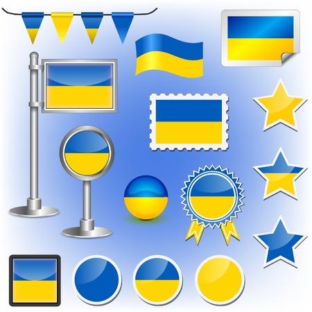 ukrainian flag: flag of ukraine