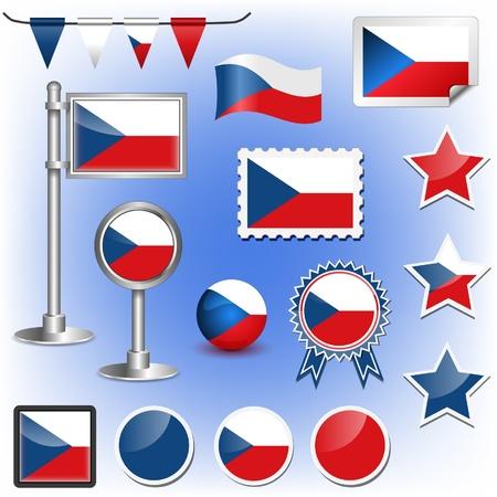 czech republic: flag of czech republic