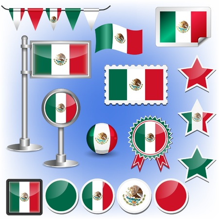 flag pole: flag of mexico