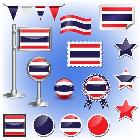 thai flag: flag of thailand