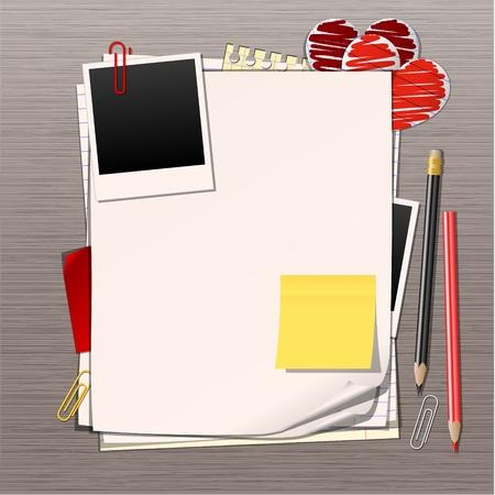memory board: hojas de papel de vector