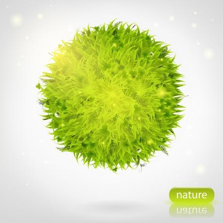 green grass sphere