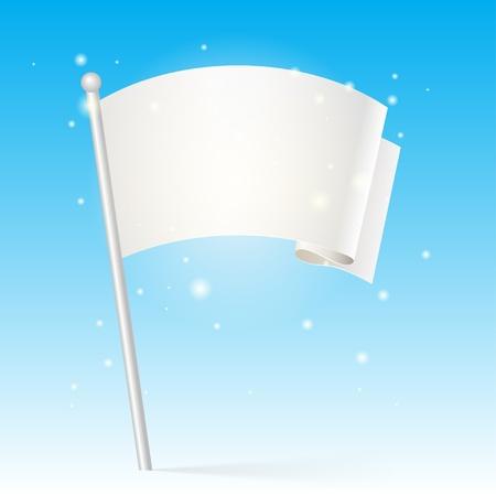 flag pole: white flag