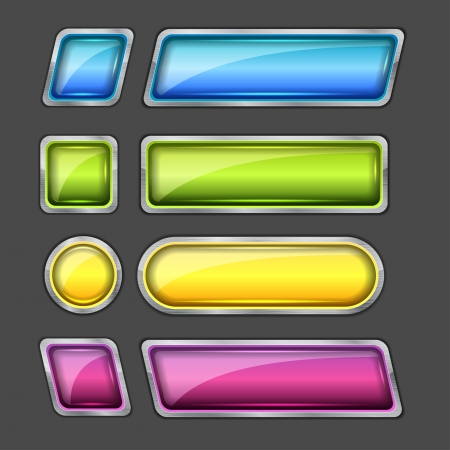 set of web buttons vector Vector