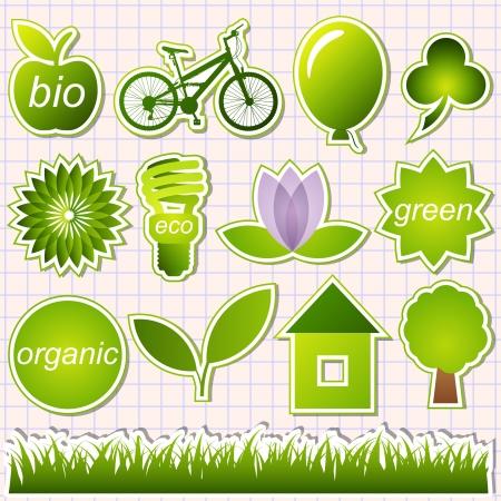 ahorro energia: elementos verdes ecológicas