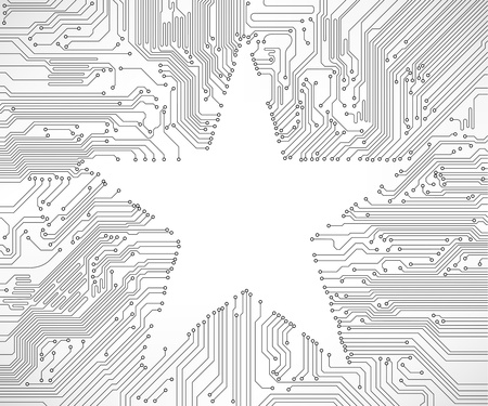 circuit board background with star Illustration