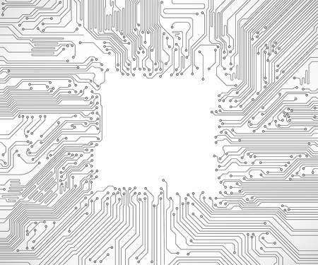 electric circuit: circuit board background Illustration