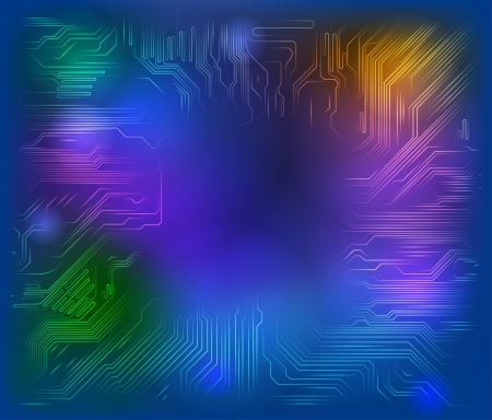 circuit board background with glass Vector