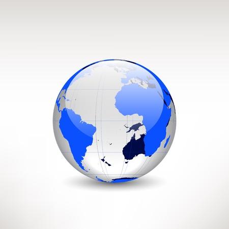 world atlas: glass globe