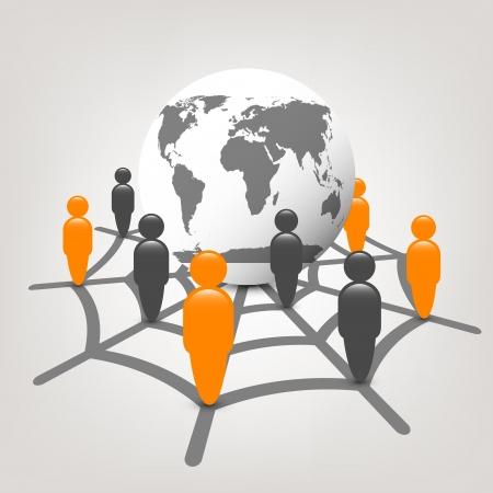 globe in web Vector