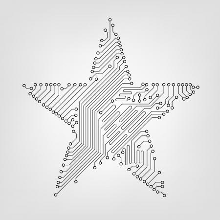 circuit board star Stock Vector - 13799231
