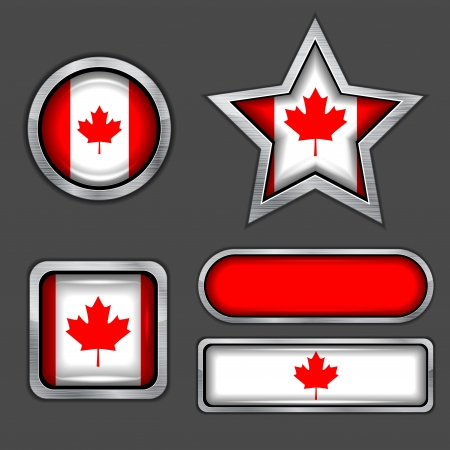 collection of canadian flag icons Vector