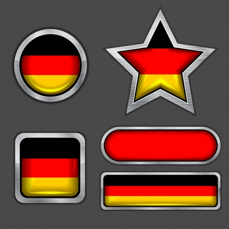 collection of german flag icons Vector