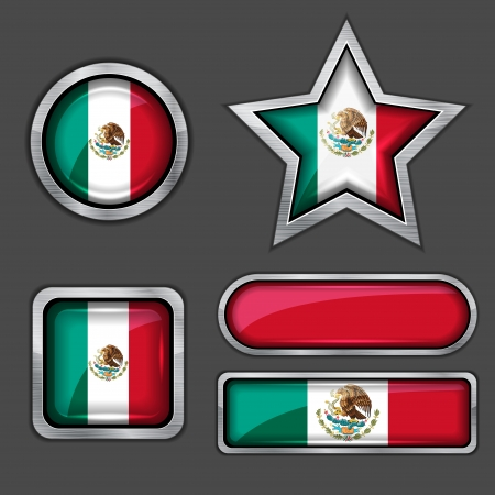 collection of south korea flag icons Vector