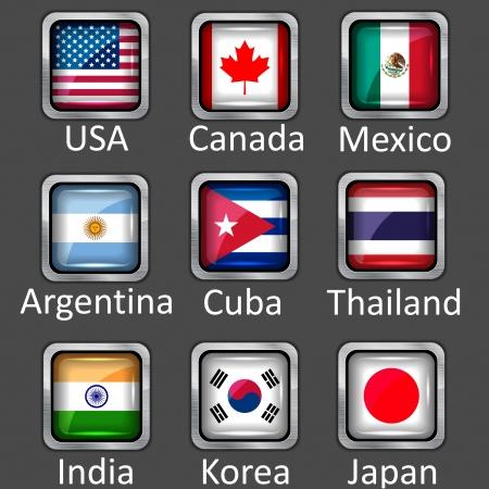 bandera cuba: icono de banderas