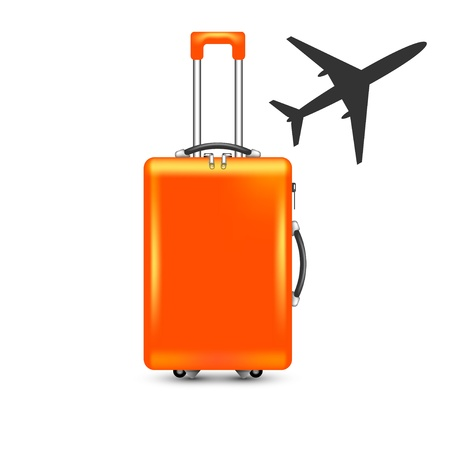 luggage travel: airplane with suitcase