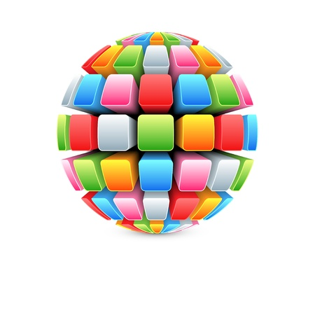3d colorful ball